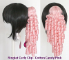 Ringlet Curly Clip - Cotton Candy Pink