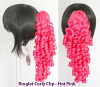 Ringlet Curly Clip - Hot Pink