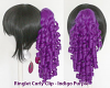 Ringlet Curly Clip - Indigo Purple