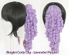 Ringlet Curly Clip - Lavender Purple