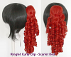 Ringlet Curly Clip - Scarlet Red