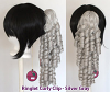 Ringlet Curly Clip - Silver Gray