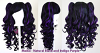 Meiko - Natural Black and Indigo Purple Mixed Blend