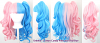 Umeko - Half Cotton Candy Pink and Half Sky Blue Split