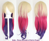 Haku - Fade Flaxen Blonde to Pink to Purple
