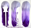 Haku - Fade Silver Gray to Indigo Purple