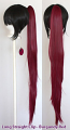 Long Straight Clip - Burgundy Red