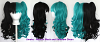 Umeko - Half Natural Black and Half Seafoam Green Split