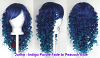 Junko - Indigo Purple and Peacock Blue