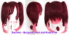 Sachiko - Burgundy Red and Rose Pink