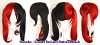 Nanako - Scarlet Red and Natural Black