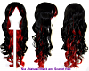 Nia - Natural Black and Scarlet Red