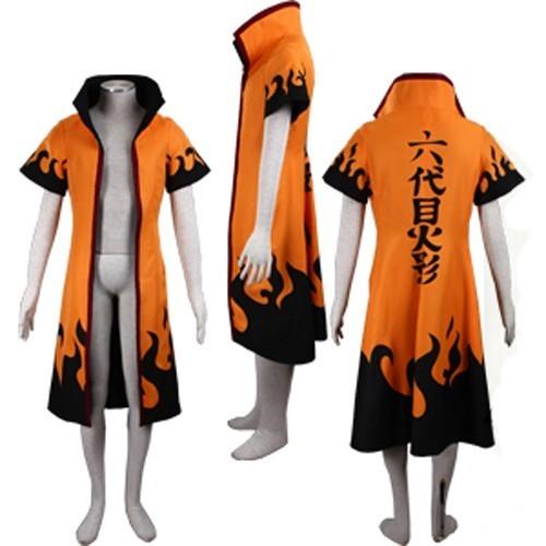 Naruto Rokudaime 6th Hokage Jacket Costume Cosplay Cloak