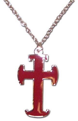 Trinity Blood Red Cross Necklace nklc7737