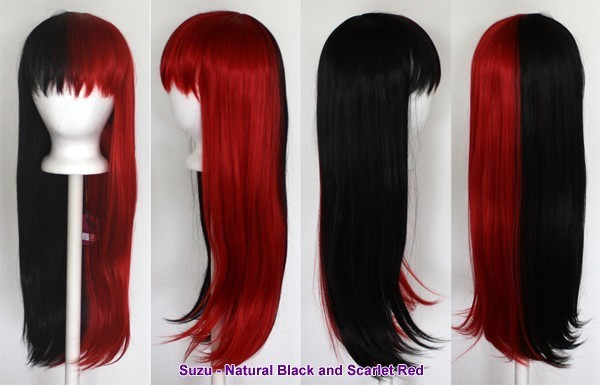 Suzu - Natural Black and Scarlet Red