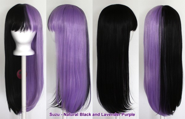 Suzu - Natural Black and Lavender Purple