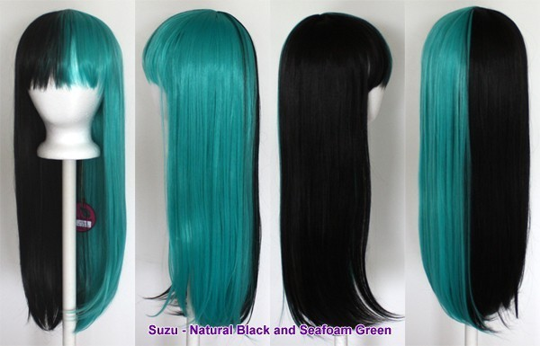 Suzu - Natural Black and Seafoam Green