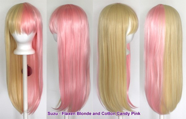 Suzu - Flaxen Blonde and Cotton Candy Pink