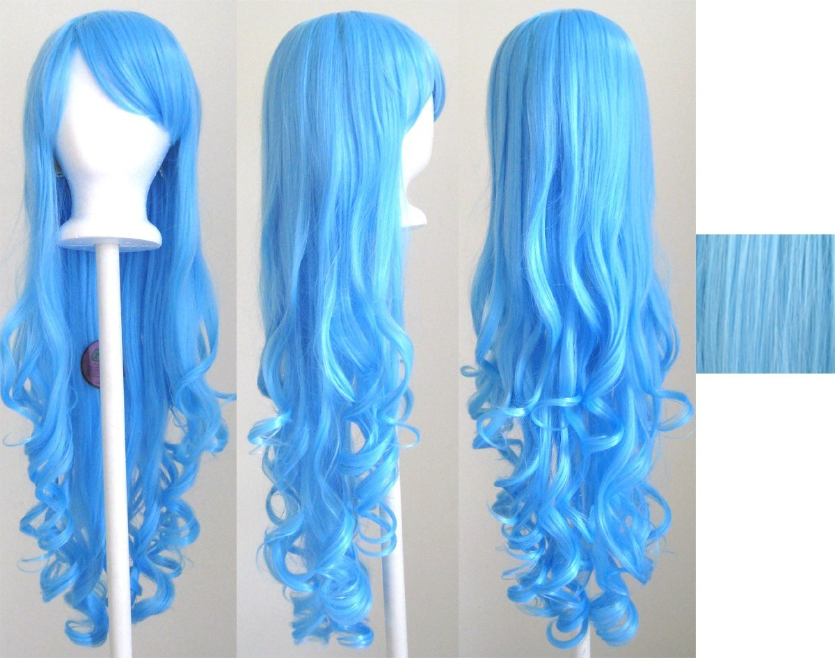 20/'/' Layered Loose Curly Cut w// Long Bangs Pastel Rainbow Cosplay Wig NEW