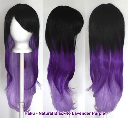 Haku - Natural Black to Lavender Purple