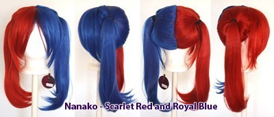 Nanako - Scarlet Red and Royal Blue