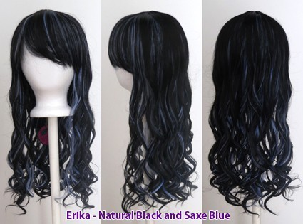 Erika - Natural Black and Saxe Blue Blend