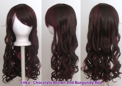 Erika - Chocolate and Burgundy Brown Blend