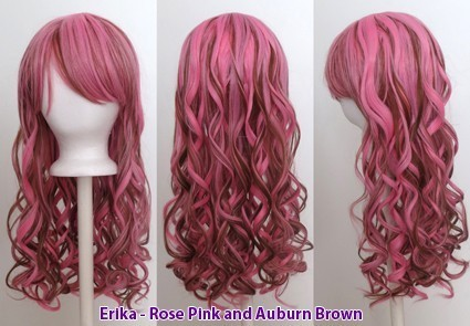 Erika - Rose Pink and Auburn Brown Blend