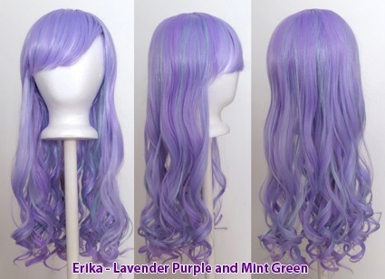 Erika - Lavender Purple and Mint Green Blend