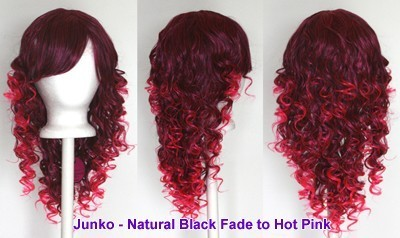 Junko - Natural Black and Hot Pink