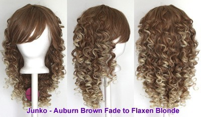 Junko - Auburn Brown and Flaxen Blonde