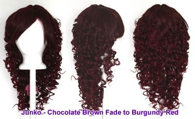 Junko - Chocolate Brown and Burgundy Red