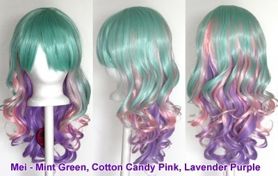 Mei - Mint Green, Cotton Candy Pink, Lavender Purple