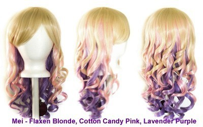 Mei - Flaxen Blond, Cotton Candy Pink, Lavender Purple