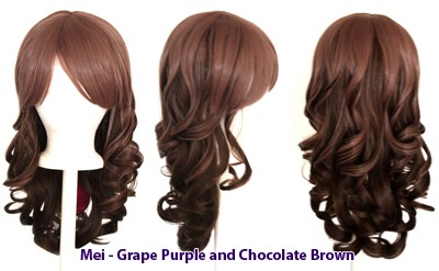 Mei - Grape Purple and Chocolate Brown