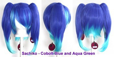 Sachiko - Cobalt Blue and Aqua Green