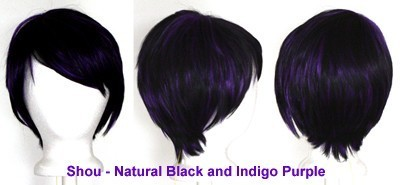 Shou - Natural Black and Indigo Purple