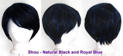 Shou - Natural Black and Royal Blue