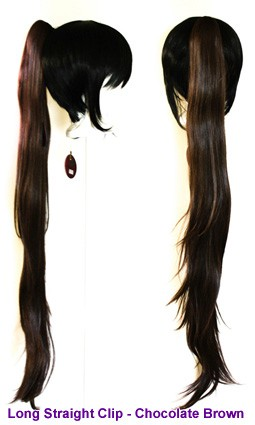 Long Straight Clip - Chocolate Brown