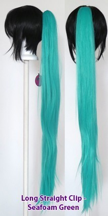 Long Straight Clip - Seafoam Green