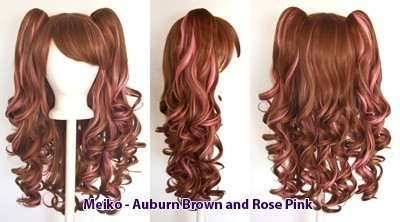 Meiko - Auburn Brown and Rose Pink