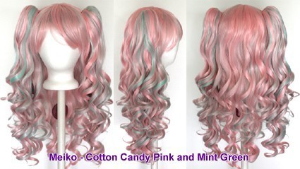 Meiko - Cotton Candy Pink and Mint Green Mixed Blend