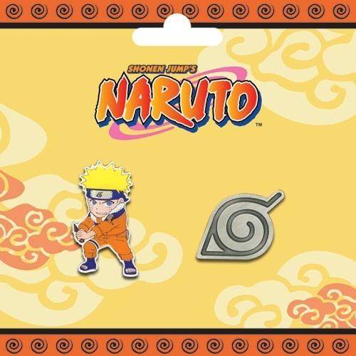 Naruto Naruto & Logo Pin Set pinnanalo
