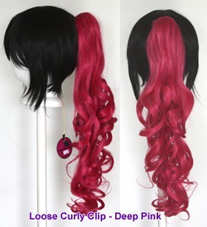 Loose Curly Clip - Deep Pink