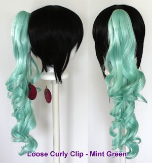 Loose Curly Clip - Mint Green