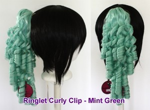 Ringlet Curly Clip - Mint Green
