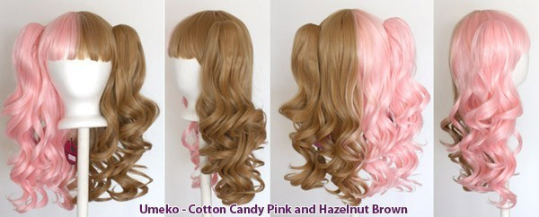 Umeko - Half Cotton Candy Pink and Hazelnut Brown Split
