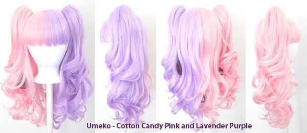 Umeko - Half Cotton Candy Pink and Lavender Purple Split