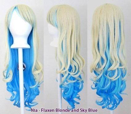 Nia - Flaxen Blonde and Sky Blue
