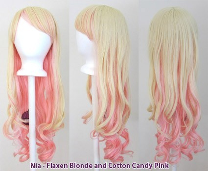 Nia - Flaxen Blonde and Cotton Candy Pink